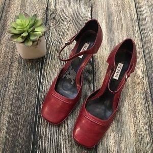 Alfani Mary Jane Squared Toed Heels Deep Red, 8M